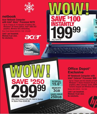 Office Depot Black Friday Hot Deal On Netbook Or Laptop My Frugal Adventures