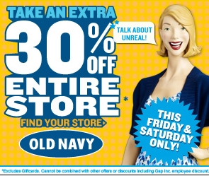 Old navy 30 off