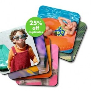 snapfish photo coasters