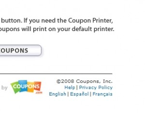 Bricks coupons not printing