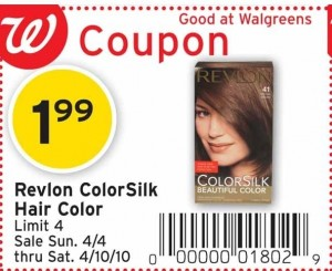 Coupons  Hair Color on Revlon Colorsilk Hair Color Is On Sale This Week For  1 99 At