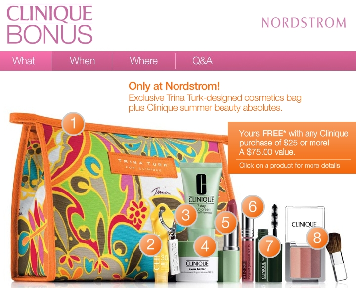 Deborah sent in an offer from Nordstrom- they have Clinique Bonus