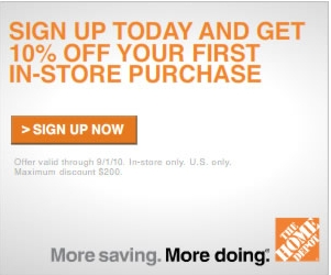 Home Depot 10 Off Coupon My Frugal Adventures