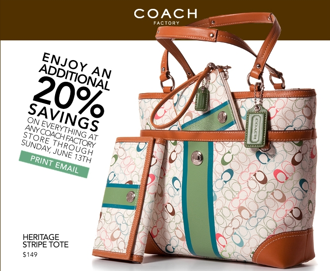Coupon for coach outlet store online