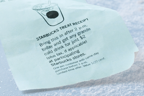 starbucks coupon treat receipts are back my frugal adventures
