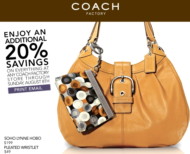 Coach bag discount coupon
