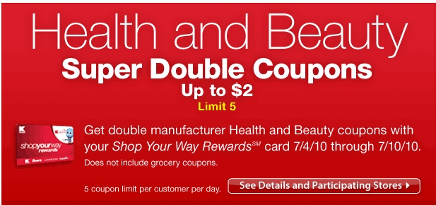 kmart double coupons policy