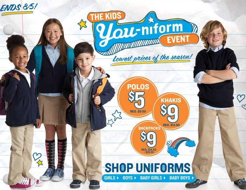 Old Navy School Uniform Sale