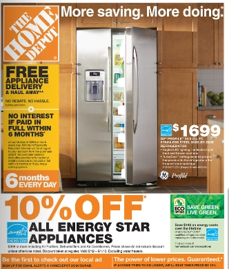 Energy Star Appliances 10 Off At Home Depot Plus 10 Off