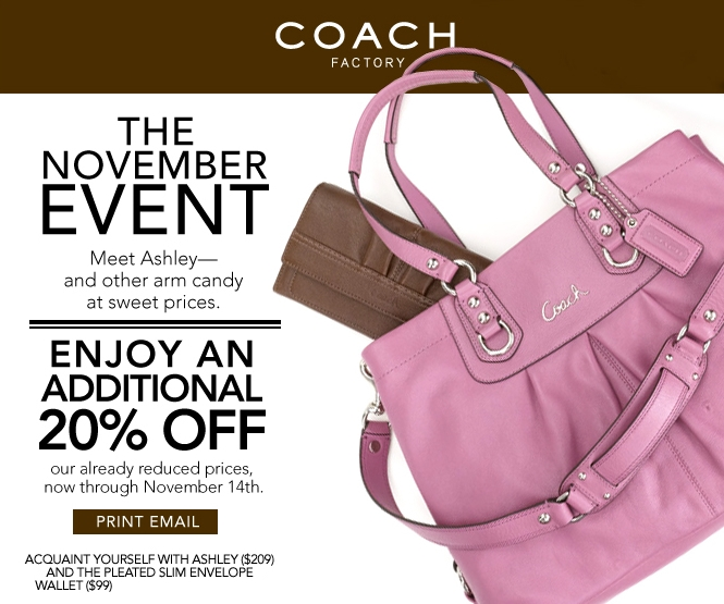 Coach outlet store coupon printable