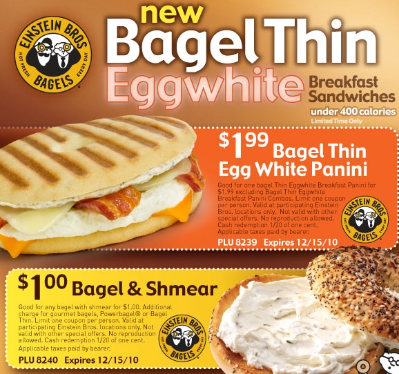 Bagel coupons