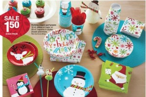 savvy spending target christmas partyware for