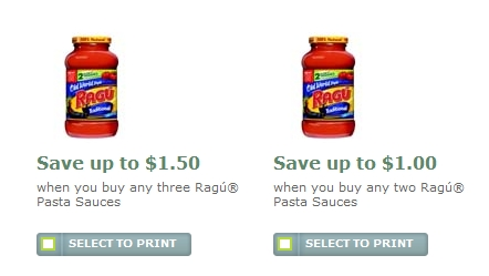 Make dinner easy tonight! Head over to Walgreens and buy two Ragu Pasta Sauce, 16 or 24 oz $, sale price through 5/5. Then use one $ off any two Ragu Pasta Sauces, limit 2 Printable Coupon or use one $ off any two Ragu Pasta Sauce, Walgreens L2C Coupon (exp 5/31) for a final price of $ each when you buy two!
