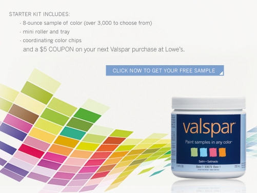 Valspar paint coupons
