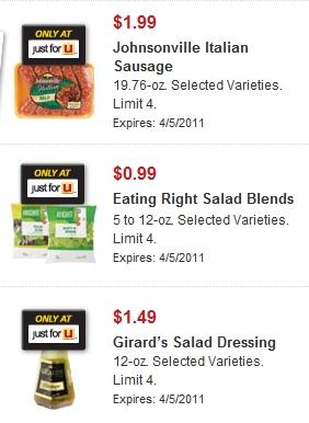 Safeway just 4 u coupons