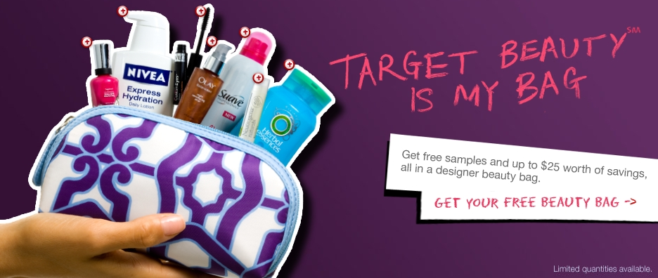 Hurry! Free Beauty Bag with samples from Target - My Frugal