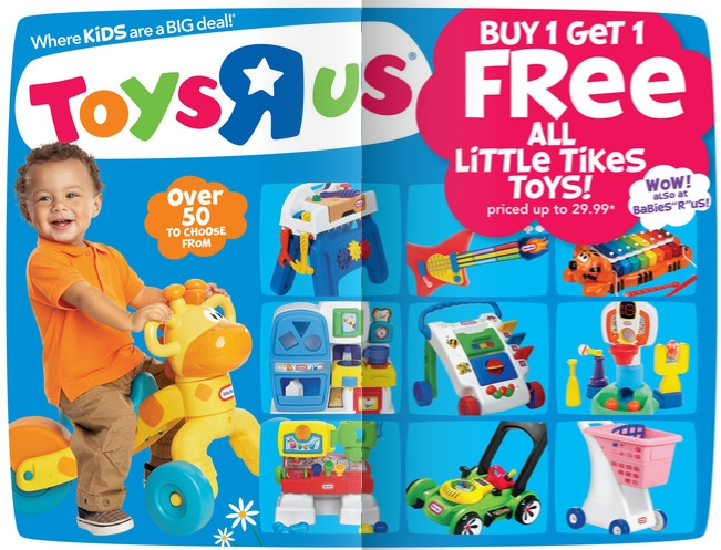 Toys R Us Buy One Get One Little Tikes Toys 5 Coupon My Frugal
