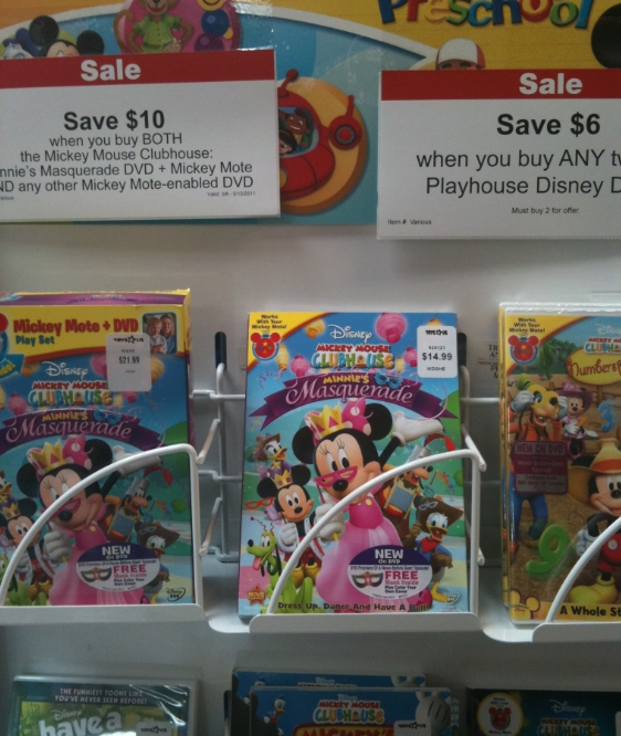 Toys R Us Dvd : Minnie s masquerade dvd at toys r us my frugal