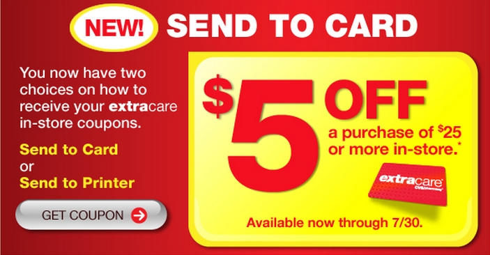 cvs coupon  new send to card feature