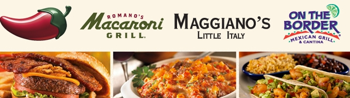 Macaroni Grill, Chili's, Maggianos or On the Border Gift Cards $10 ...