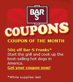 Bar s coupons