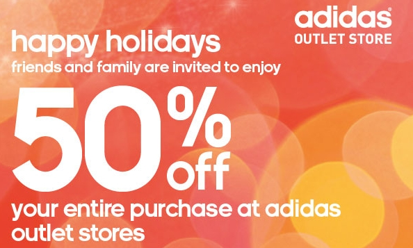 Adidas Outlet Store Coupon 50% off - My Frugal Adventures