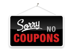 sorry no coupons