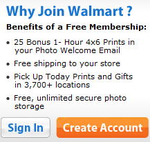 25 Free Prints when you Register for Walmart Photo Center