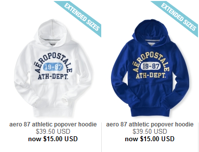 And these hoodies for $15 seemed like a good deal
