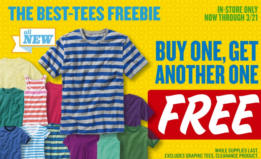 2dbe9e3192 Old Navy: Buy One Get One Free T-Shirts - My Frugal Adventures