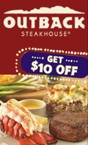 photograph regarding Outback Coupons $10 Off Printable named Outback Steakhouse Coupon $10 off 2 Entrees - My Frugal