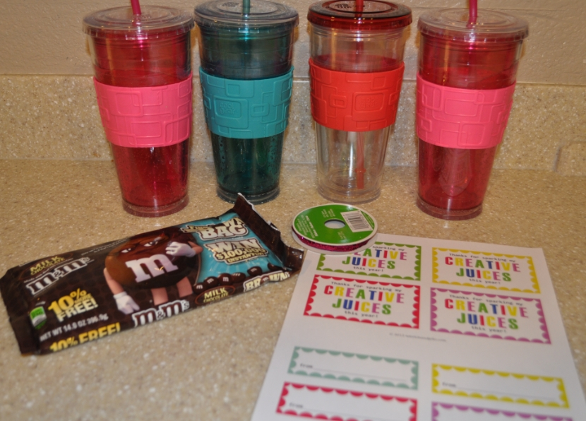 Teacher gift ideas my finished gifts my frugal adventures i negle Gallery