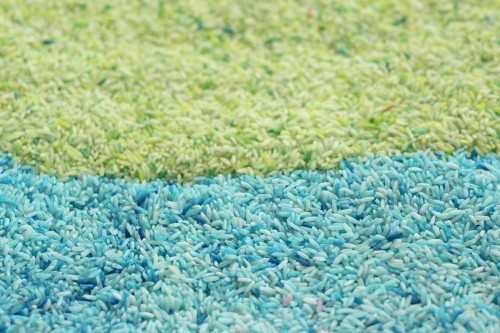 homemade colored rice