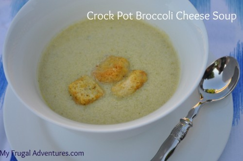 Recipe: Crock Pot Broccoli Cheese Soup