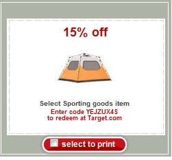 Target Coupon 15 Off Sporting Goods My Frugal Adventures