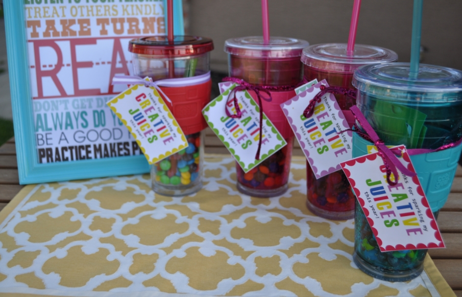 I mentioned some cute Teacher Gift ideas ... & Teacher Gift Ideas My Finished Gifts - My Frugal Adventures