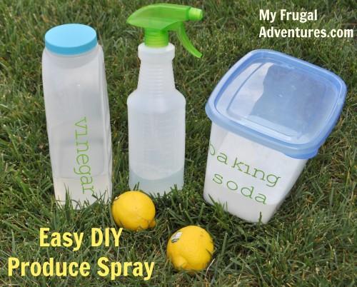 Easy Homemade Produce Spray