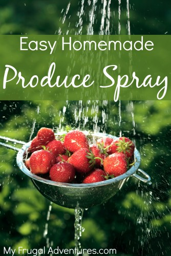 Easy Homemade Produce Spray