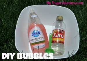 Children's Craft Idea: Homemade Bubbles