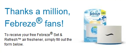 Free Sample: Febreze Set and Refresh - My Frugal Adventures