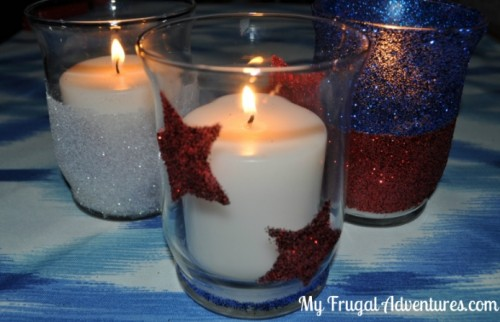 Giltter Jars (Perfect for Fourth of July)