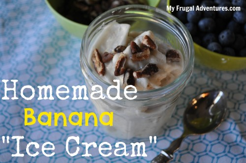 "Homemade Banana ""Ice Cream"" Recipe"