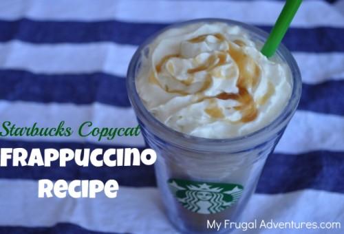 Copycat Starbucks Frappuccino Recipe
