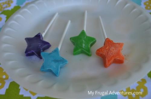 Children's Craft Idea: Freezer Pop Painting