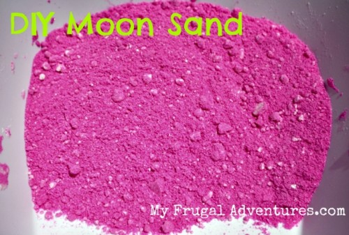 Children's Craft Idea: DIY Moon Sand