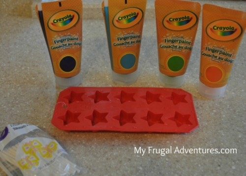 Children's Craft Idea: Freezer Pop Painting
