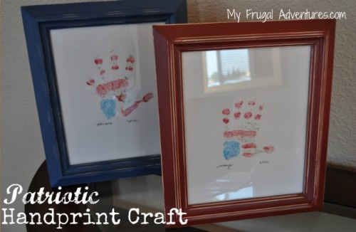 Children's Craft Ideas: Patriotic Handprint