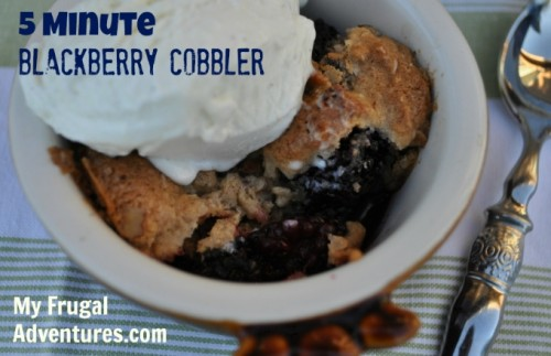 5 Minute Blackberry Cobbler Recipe