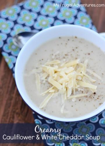 Creamy Cauliflower and White Cheddar Soup Recipe