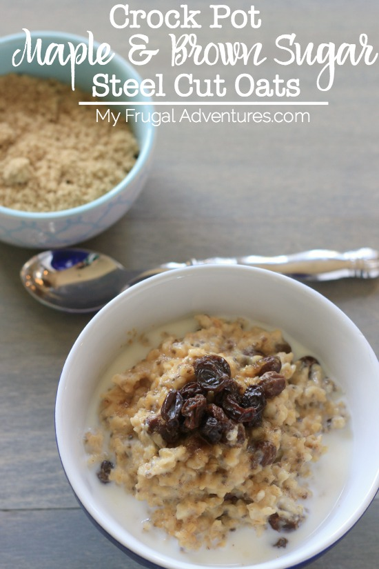 Crock Pot Maple & Brown Sugar Steel Cut Oats